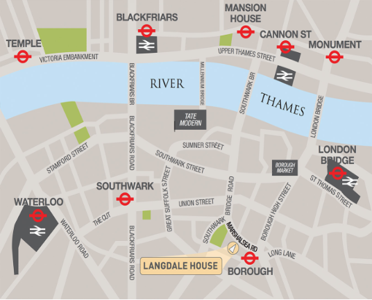 Chandler Shipton Surveyors map Borough, London